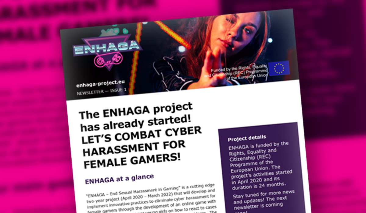 You are currently viewing Τhe ENHAGA project has already started! LET'S COMBAT CYBER HARASSMENT FOR FEMALE GAMERS!